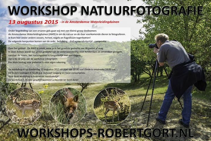 Workshop natuurfotografie Robert Gort - Willem Croese